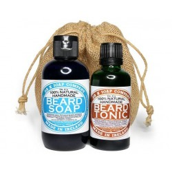Dr. K Soap Care Set (Beard Soap + Beard Tonic + Pettine e spazzolina baffi barba),